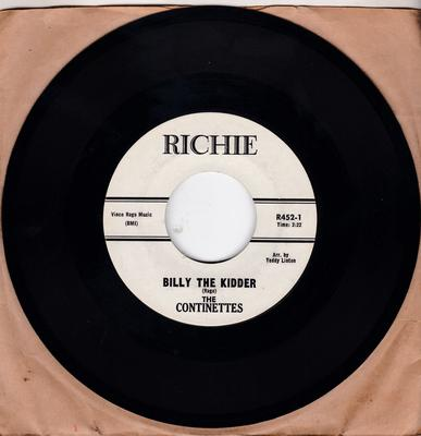 Continettes - Billy The Kidder / Boys Who Don't Understand - Richie R452 + group promo pic
