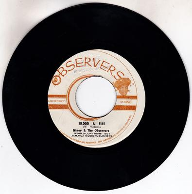 Niney and The Obsewrvers - Blood & Fire / Mud & Water - Observer 3282