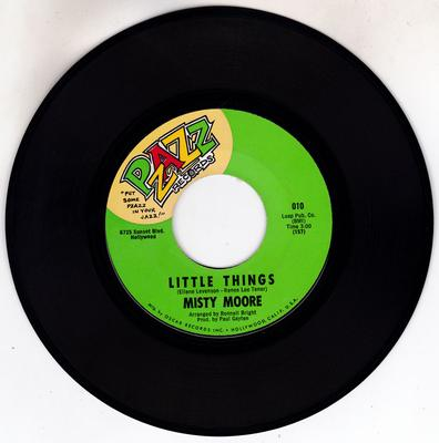 Misty Moore - Little Things / Can't Believe You're Gone - Pzazz 010