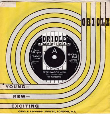 Marvelettes - Beechwood 4-5789 / Someday Someway - Oriole 45-CBA 1764 DJ