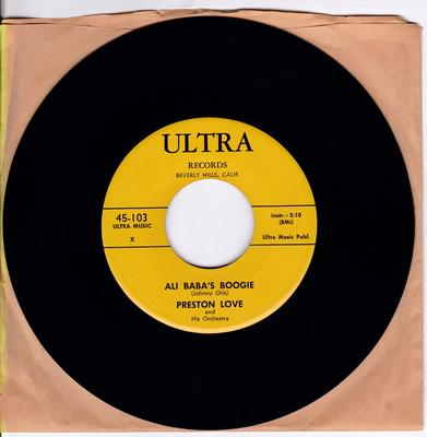 Preston Love - Ali Baba's Boogie / That's All Right Baby - Ultra 103