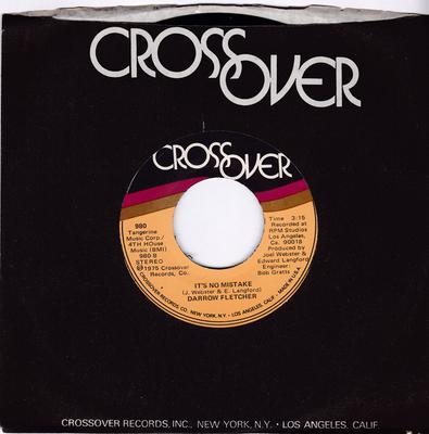 Darrow Fletcher - It's No Mistake / Try Something New - Crossover 980