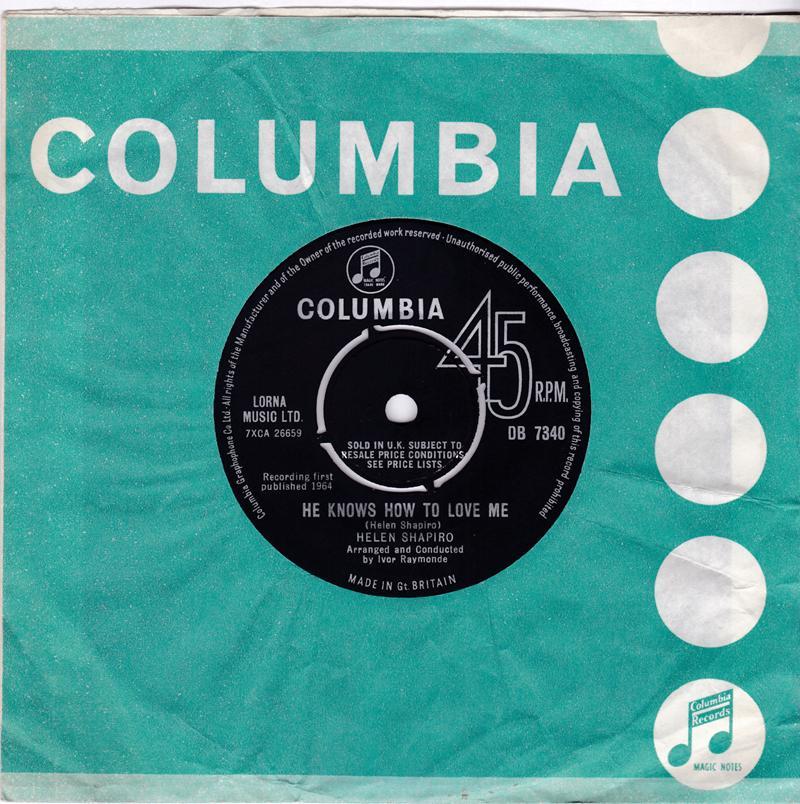 Helen Shapiro - He Knows How To Love Me / Shop Around - Columbia DB 7340