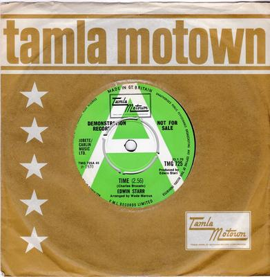 Edwin Starr - Time / Running Back And Forth -  Tamla Motown TMG 725 DJ