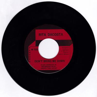 Rita Dacosta - Don't Bring Me Down / The Golden Days Of Now - Pandora M-7050