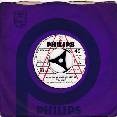 Jon Ford - You've Got Me Where You Want Me / You're All Alone Tonight - Philips 6006 030 DJ