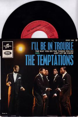 Temptations - I'll Be In Trouble / 1964 4 track French EP - Columbia ESRF 1600 EP PS