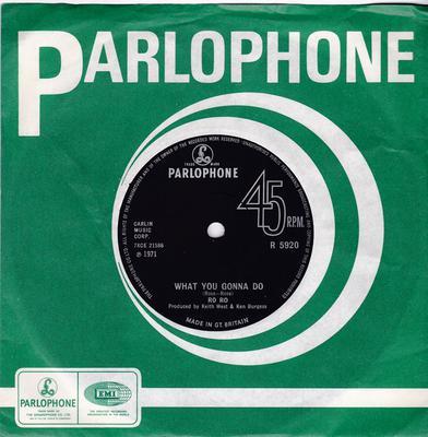 Ro Ro - What You Gonna Do / Here I Go Again - Parlophone R 5920