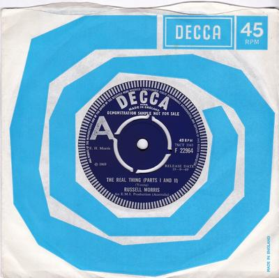 Russell Morris - The Real Thing (parts I and II / It's Only A Matter Of Time - Decca F 22964 DJ