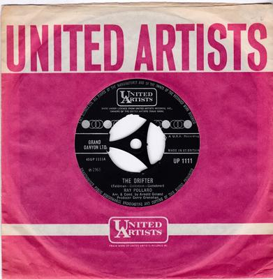 Ray Pollard - The Drifter / Let Him Go ( And Let Me Love You )  - United Artists UP 1111 noc