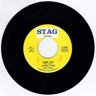 Johnny Starr - Dark Skie / same: instrumental - Stag ST 0001