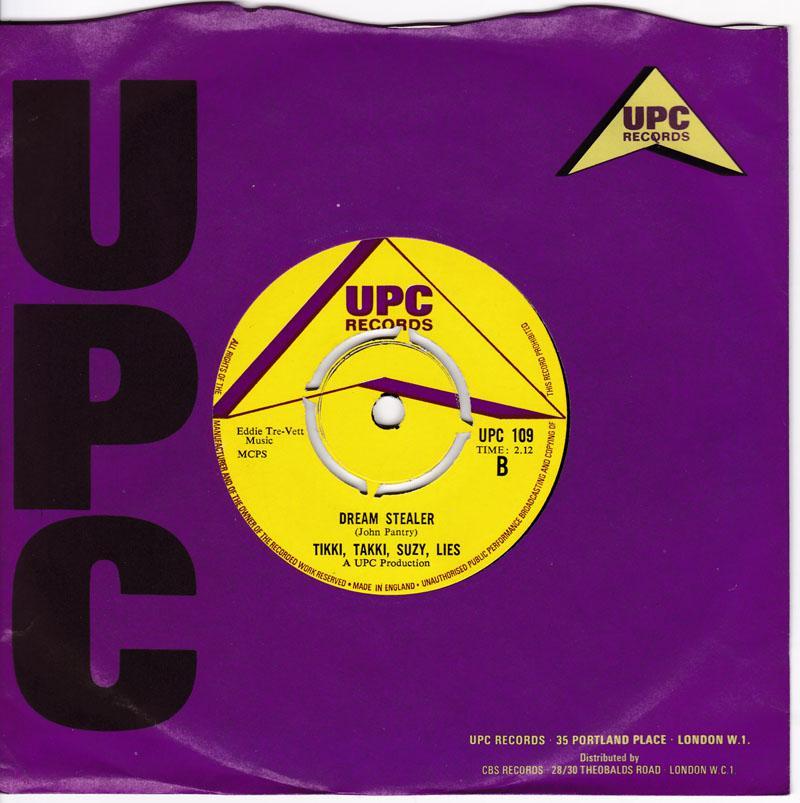 Tikki, Takki Suzy, Lies - Dream Stealer / Ba-Da-Da-Dum - UPC 109