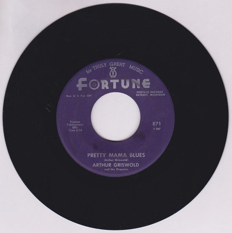 Arthur Griswold - Pretty Mama Blues /Trying For a Future - Fortune 871