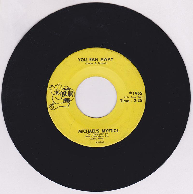 Michael's Mystics - You Ran Away / Hi Bird - Bear 1965