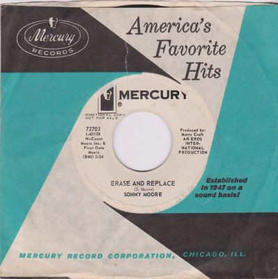 Sonny Moore - Erase And Replace / At The Crossroads - Mercury 72703 DJ