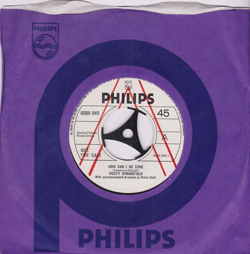Dusty Springfield - Spooky / How Can I Be Sure - Philips 6006 045 DJ