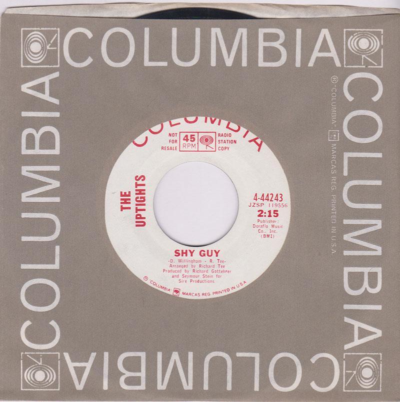 Uptights - Shy Guy / He Said - Columbia 4-44243 DJ