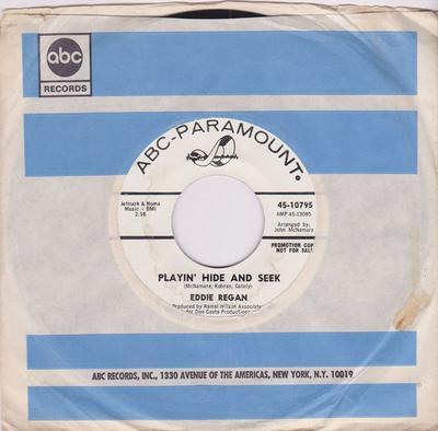 Eddie Regan - Playin' Hide And Seek / Talk About Heartaches - ABC Paramount 45-10795 DJ