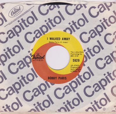 Bobby Paris - I Walked Away / Kansas City - Capitol P 5929 Canada
