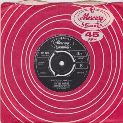 Dee Dee Warwick - Worth every Tear I Cry / Lover's Chant - Mercury MF 909