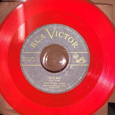"Arthur ""Big Boy"" Crudup - Katie May / Boyfriend Blues - RCA Victor 50-0001 cerise vinyl"