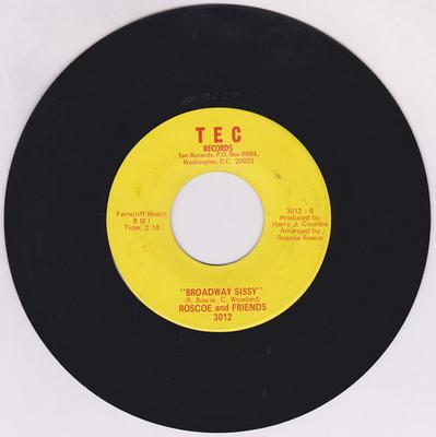 Roscoe and Friends - Broadway Sissy / Barnyard Soul - Tec 3012