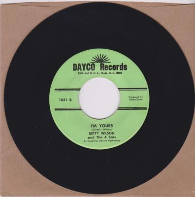 Betty Wilson and the Four Bars - I'm Yours / All Over Again - Dayco Records 1631