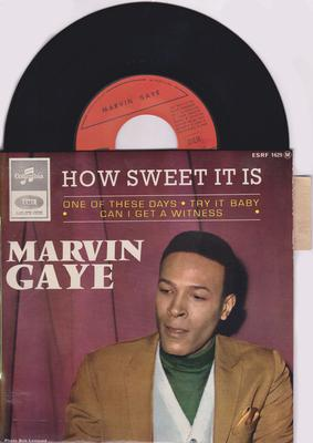Marvin Gaye - How Sweet It Is / 1965 French EP with cover - Columubia ESRF 1629 EP PS
