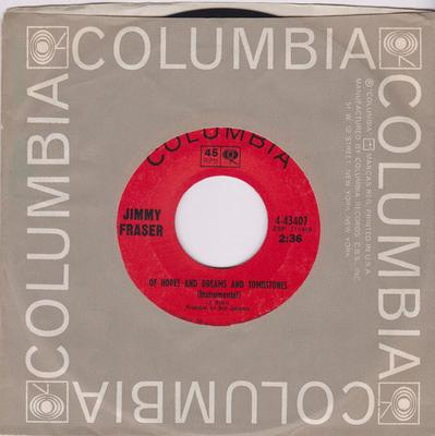 Jimmy Fraser - Of Hopes Dreams And Tombstones - Columbia 4-43407