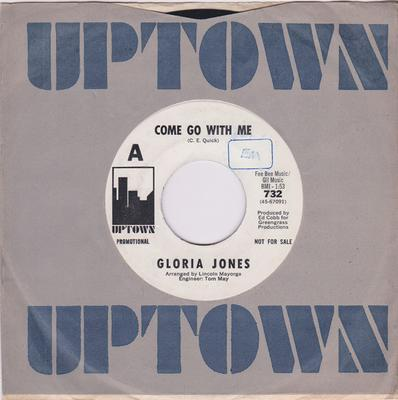Gloria Jones - Come Go With Me / How Do You Tell An Angel - Uptown 732 DJ