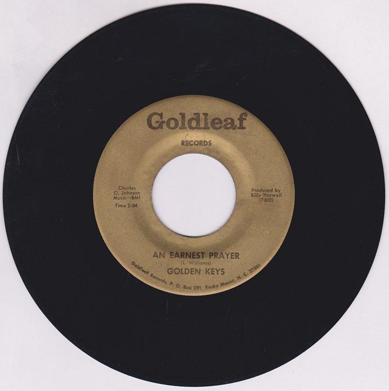 Golden Keys - An Earnest Prayer / I Really Don't Mind - Goldleaf 7302/03