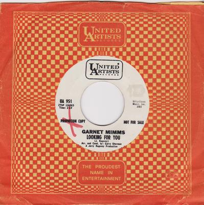 Garnet Mimms - Looking For You / More Than A Miracle - United Artists UA 951 DJ
