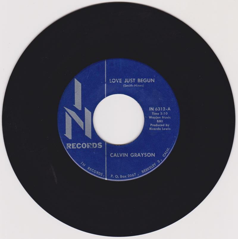 Calvin Grayson - Love Just Begun / You've Got To Be Willing - In Records In 6312