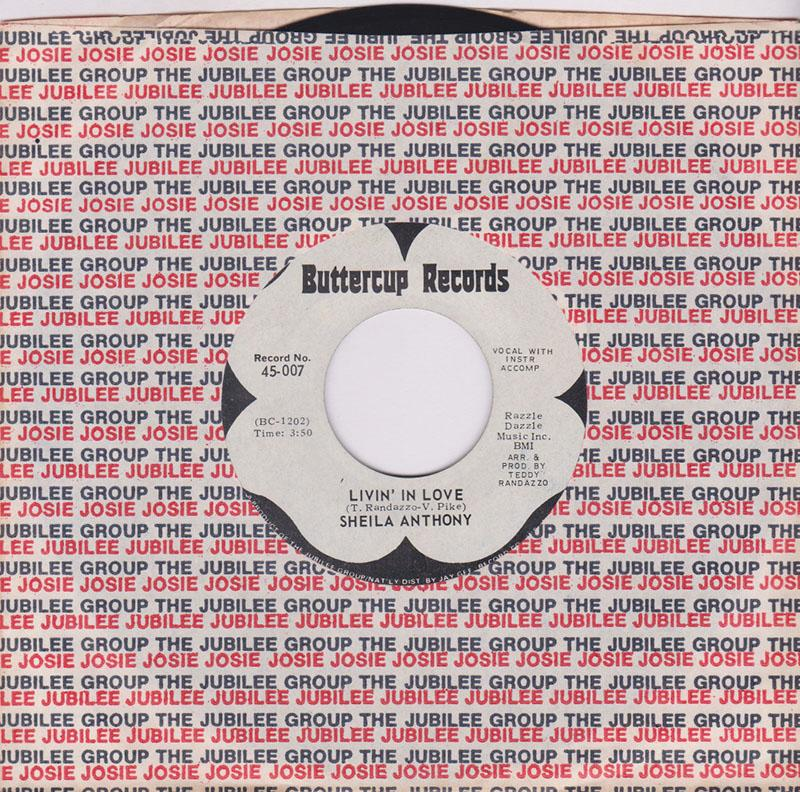 Sheila Anthony - Livin' In Love / Woman To Woman - Buttercup 45-007 DJ