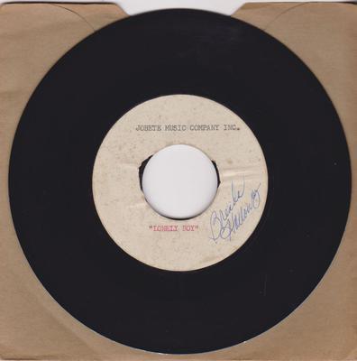 Brenda Holloway - Lonely Boy / blank: - Jobete Music Company Inc. acetate