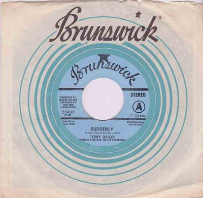Tony Drake - Suddenly / It Hurts Me More - Brunswick 55437 DJ