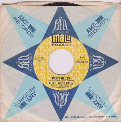 Tony Middleton - Paris Blues / Out Of This world - Mala 544 DJ