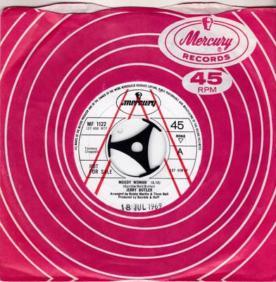 Jerry Butler - Moody Woman / Go Away - Find Yourself - Mercury MF 1122 DJ + promo letter