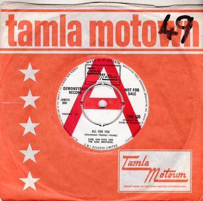 Earl Van Dyke - All For You / Too Many Fish In The Sea - Tamla Motown TMG 506 DJ