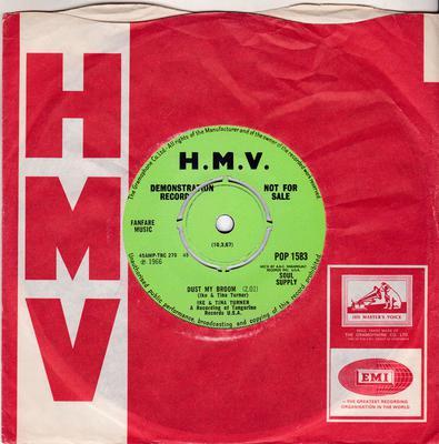 Ike & Tina Turner - Dust My Broom / I'm Hooked - H. M. V. POP 1583 DJ