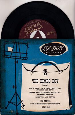 JIm Reeves - The Bimbo Boy vol. 2 / 1955 UK gold London - London REU 1033