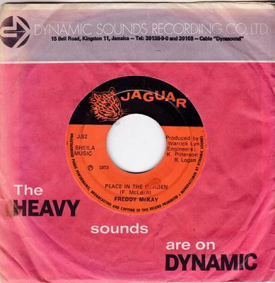 Freddie McKay - Peace In The Garden / version - Jaguar  J82