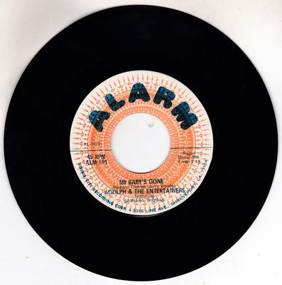 Barbara Thomas with Adolf and the Entertainers - My Baby's Gone / I Need A Little Girl - Alarm ALM 101