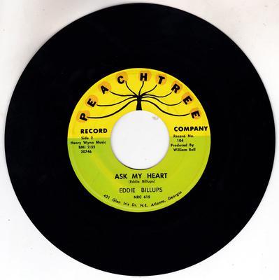 Eddie Billups - Ask My Heart / Soldier's Prayer - Peachtree 104