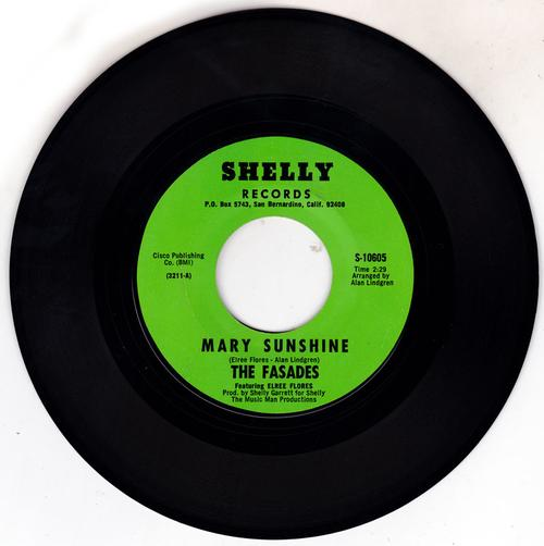 Fasades featuring Elree Flores - Mary Sunshine / You're Driving Me Out Of My Mind - Shelley S-10605
