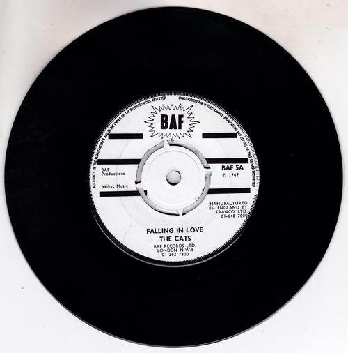 The Cats / Ray Pereira -  Falling In Love / Don't Mess With Cupid - BAF 5