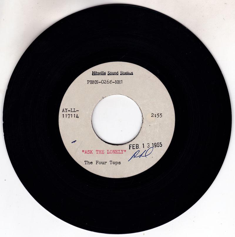 Four Tops - Ask The Lonely / blank - Hitsville Sound Studios  7