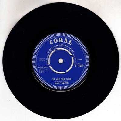 Jackie Wilson - Since You Should Me How To Be Happy /  - Coral Q 72496 DJ