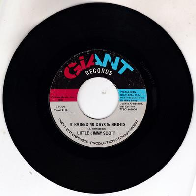 Little Jimmy Scott - Do You Get The Message / It Rained 40 Days & Nights /  - Giant GT 706