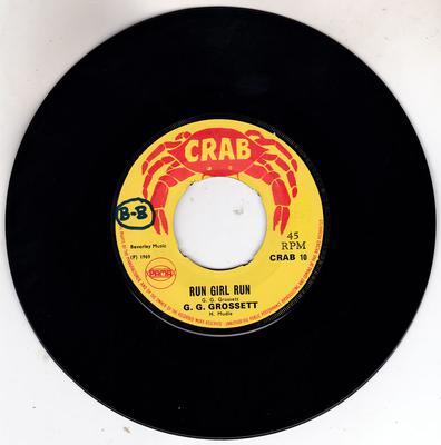 G. G. Grossett - Run Girl Run / The Drifter - Crab 10